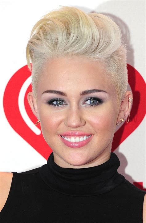 hairstyles for women with round head short sleek hairstyle ideas google images miley cyrus