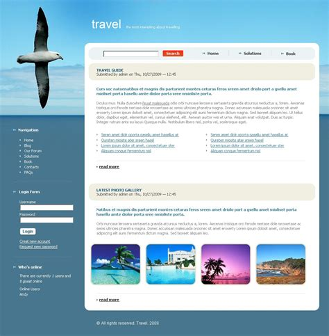 drupal themes zip travel drupal template 23185