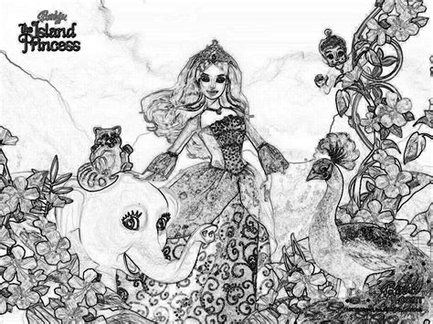 island princess coloring page barbie as the island princess coloring page coloring home