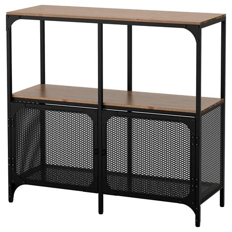ikea shelving fj 196 llbo shelving unit black 100x95 cm ikea