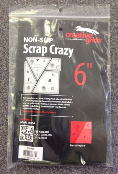creative grids non slip scrap crazy 6 inch set of