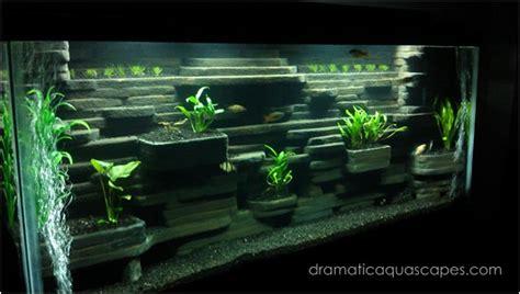 dramatic aquascapes diy aquarium background aaron