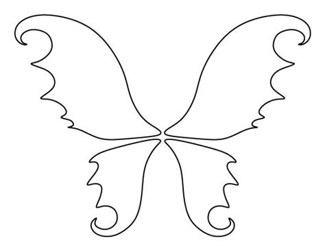 fairy wings pattern use the printable outline for crafts