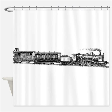 train shower curtain vintage train shower curtains vintage train fabric