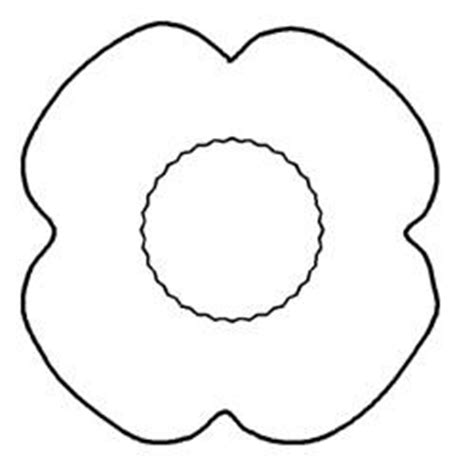 poppy craft template poppy template topic
