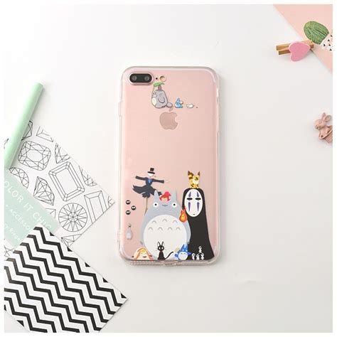 Totoro For Iphone 6 6s 7 7 Murah my totoro clear soft phone skin back cover