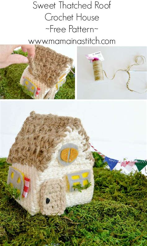 crochet house pattern free little thatch roof crochet house mama in a stitch