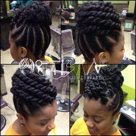 Braided Updos For Twas | beautiful black long hair senegalese twist updo hairstyles
