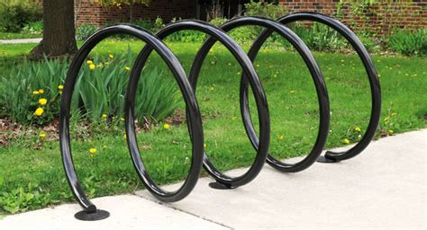 outdoor spiral cycle parking rack