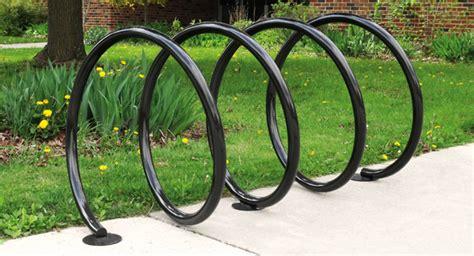 Backyard Bike Rack by Outdoor Spiral Cycle Parking Rack