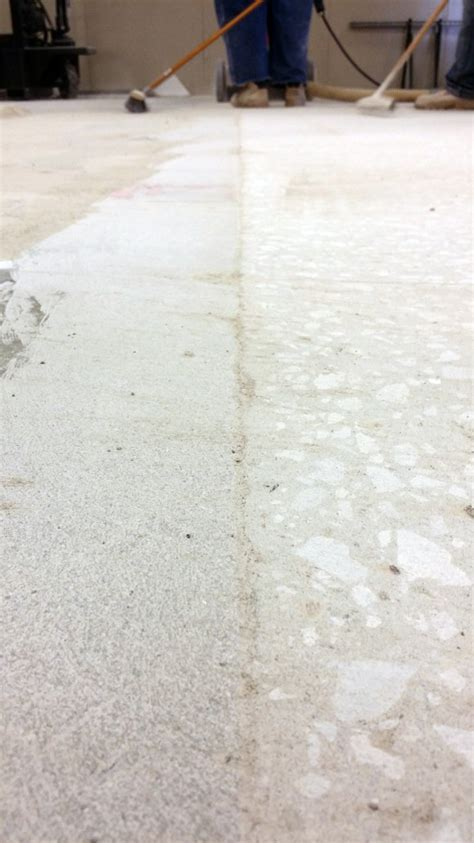 Concrete scarifying for floor surface preparation by