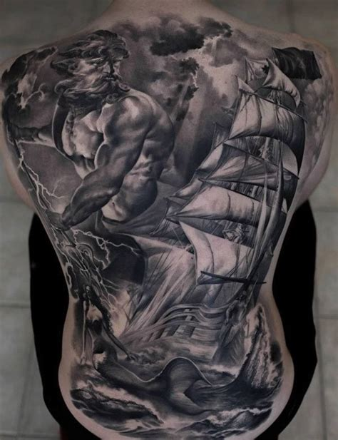 gray wash tattoo designs gray washed style detailed whole back of