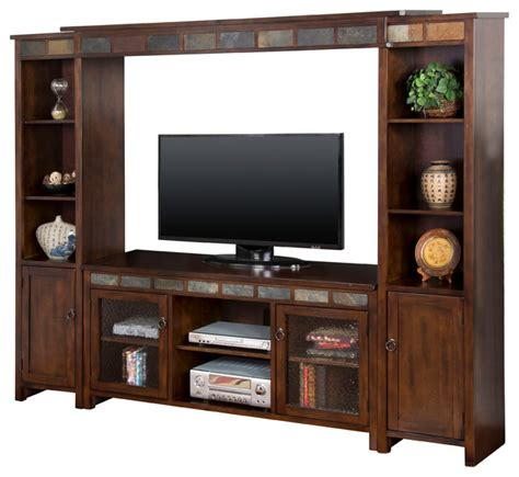 pier cabinet entertainment center santa fe entertainment wall with bridge and cabinet piers