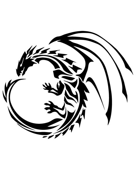 printable dragon templates dragon stencil printable stencils stenciling and dragons