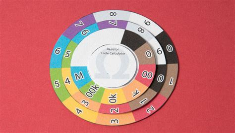 resistor color code wheel pdf resistor color wheel