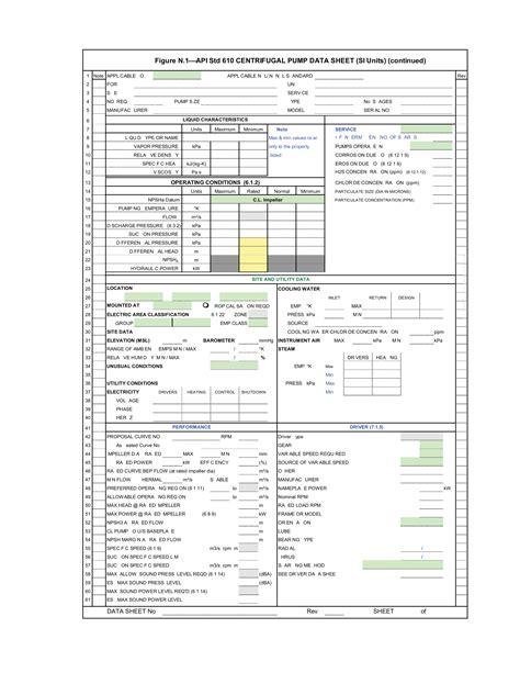 플랜트 엔지니어링 Engineering Pump 카테고리의 글 목록 Api Specification Template