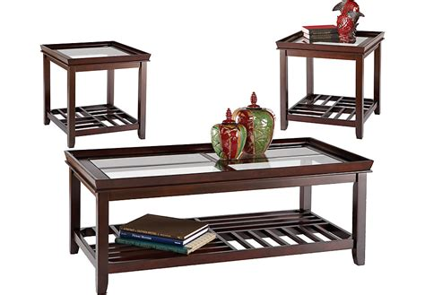 Santos Espresso 3 Pc Table Set Table Sets Dark Wood Tables Sets For Living Rooms