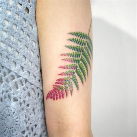 40 beautiful fern frond tattoo designs tattooblend