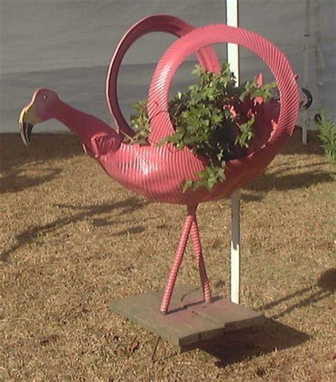 flamigo planter www tireswingsandgardenthings