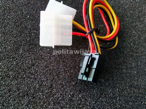 Jual Kabel Power Vga 6 Pin jual kabel 6pin vga pelitawijaya shop surabaya