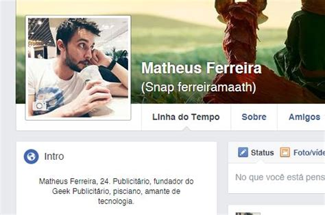 imagenes geniales para biografia de facebook facebook revela intro uma 225 rea no seu perfil pra se