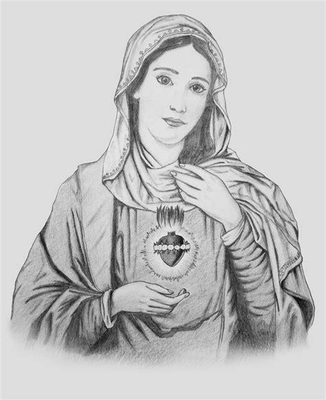 imagenes a lapiz de la virgen maria virgen mar 237 a rosa m 237 stica del dibujo a l 225 piz a la