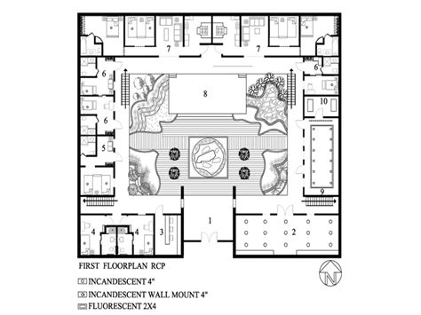 House Plan With Courtyard Modern Small House Plans Small House Plans With Courtyard Home Plans With Courtyards