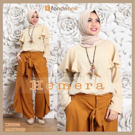 Terlaris Pashmina Cutting hemera mustard baju muslim gamis modern