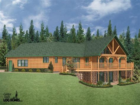 Log Cabin Style Home Plans by Ranch Style Log Homes Log Cabin Ranch Style Home