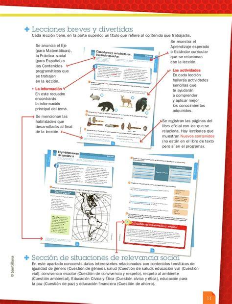 gua santillana 6 grado contestada la gu 237 a santillana 6 176 programa 2011 alumno liberado