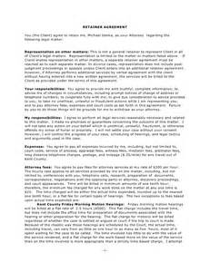 Consulting Retainer Agreement Templates by 10 Best Images Of Retainer Agreement Sle Consulting