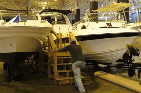 setting up the cleveland boat show rock the lake - Boat Show Cleveland