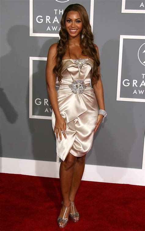 Who Had The Best Carpet Style Of 2007 by Beyonc 233 And Blue Join Z Front Row At The Grammys