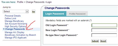 reset my online banking password how to reset forgotten passwords in sbi online banking