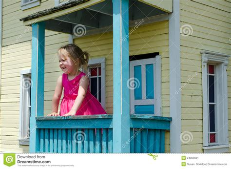little girl house little girl in a play house stock image image 24904691
