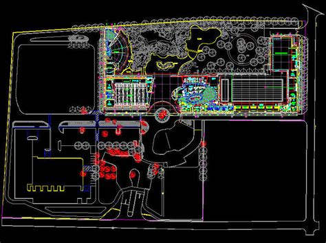autocad layout design center cad building template sporting recreation sport