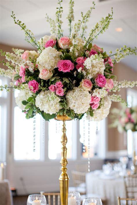 tall 36 quot gold candelabra flower tower centerpiece wedding