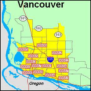 Vancouver Zip Code Map zip code vancouver washington map