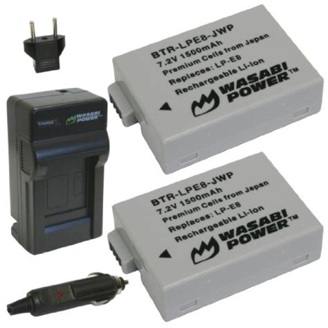 Wasabi Power Battery Canon Lp E12 2 Pack Dual Charger 1 canon eos t2i wasabi power battery 2 pack and charger for canon lp e8 and canon eos 550d eos
