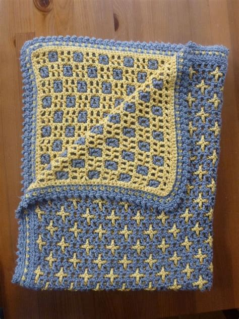reversible ripple afghans free pattern interlocking crochet squares crosses http www ravelry