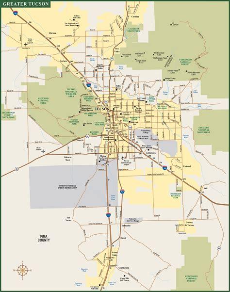 printable map of tucson area tucson metro map digital vector creative force