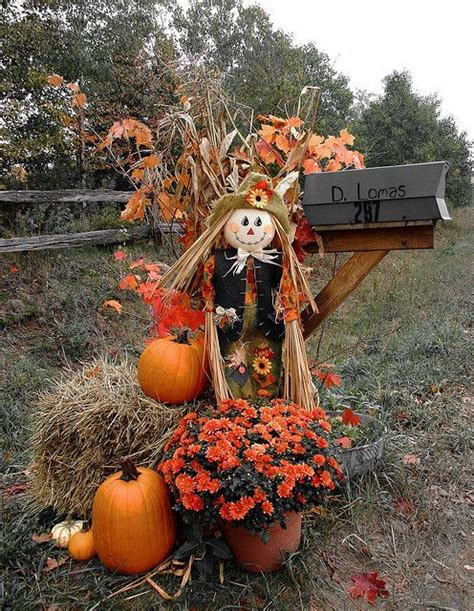 Thanksgiving Lights Outdoor Decorations Mailbox Decorated For Fall Pictures Photos And Images For And