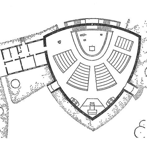ecumenical chapel floor plan where are all the triangular churches locus iste