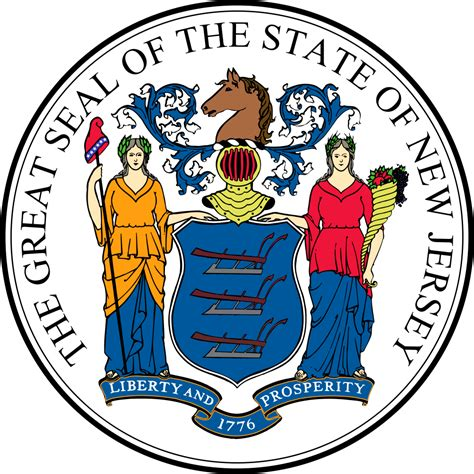 new jersey new jersey flags emblems symbols outline maps