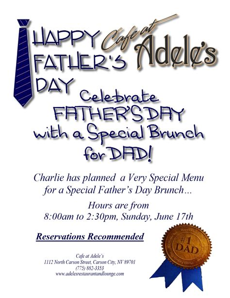 fathers day brunch 2018 father s day special brunch cafe at adele s