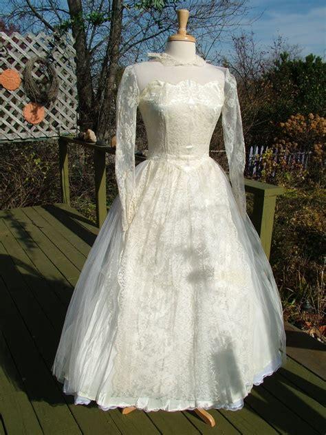 vintage tea length wedding dress vintage 1950s lace tea length wedding dress very tres