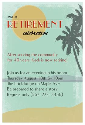 quot its a retirement celebration quot printable invitation