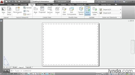 layout autocad paper size creating a layout part one choosing paper size from the