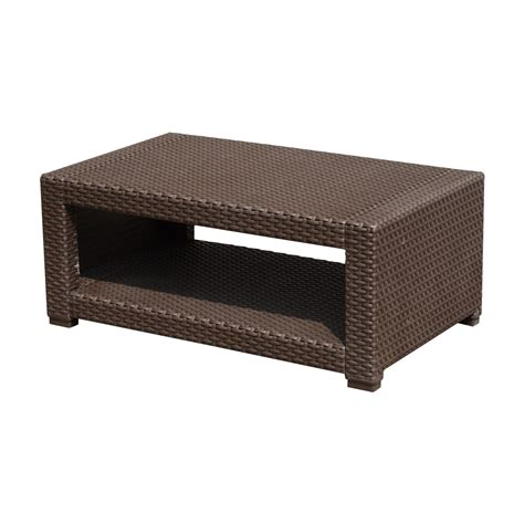 Outsunny Rattan Style Resin Wicker Outdoor Furniture (Coffee Table)   Only A Few Left
