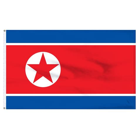 Decorative Accessories For The Home by North Korea 5 X 8 Nylon Flag